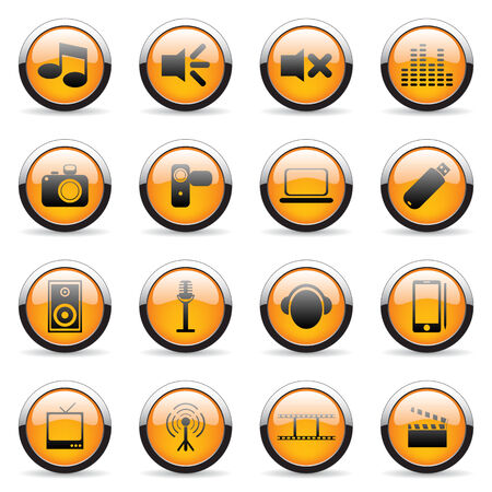 Orange vector icon (set 1) Vector