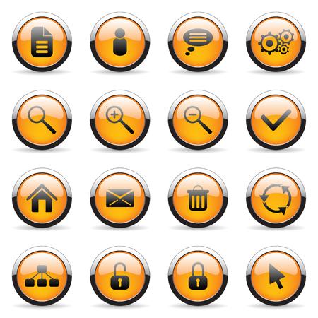 Orange vector icon (set 3) Vector