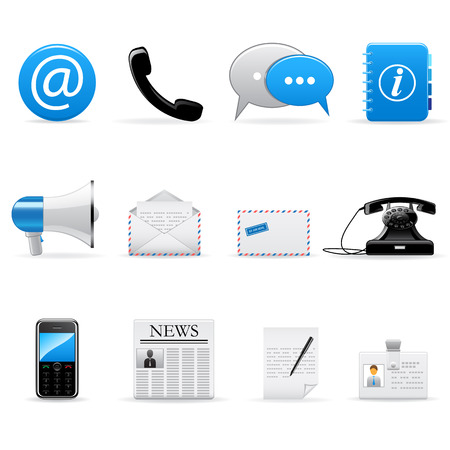 email security: Vector web and communication icons set