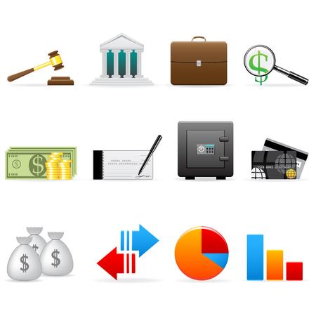 バンキング: ベクトル金融のアイコンを設定