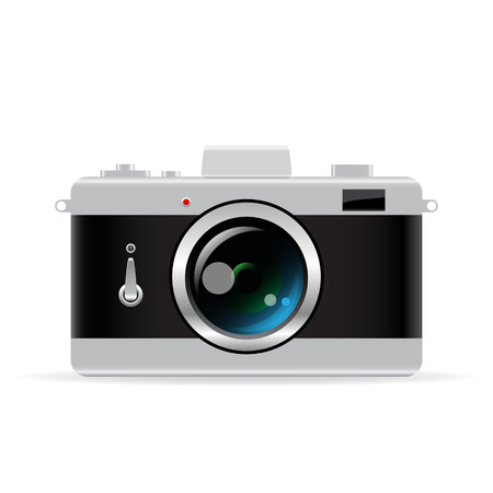 photo equipment: Vector photo camera
