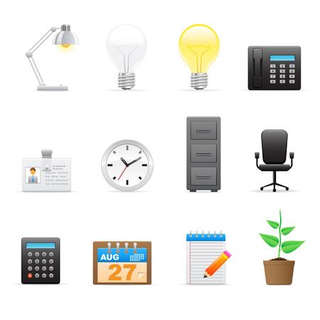 Office-pictogrammen set (werk)