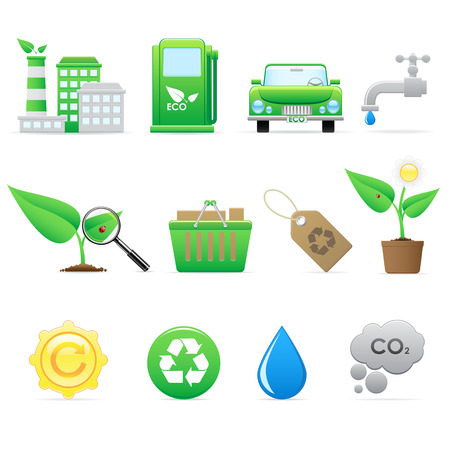 Ecology icons set Stock Vector - 6567383