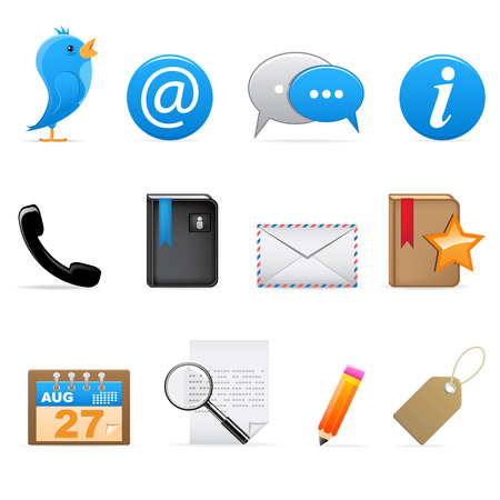 mail icon: Social media icons Illustration