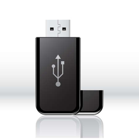 flash drive: Vector USB flash drive Illustration
