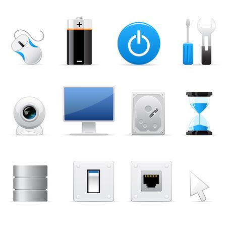 Computers icon set Stock Illustratie