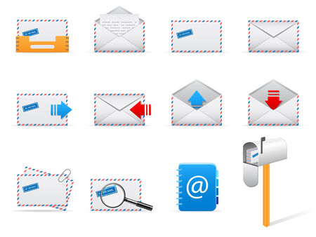 mail icons Stock Vector - 6573104