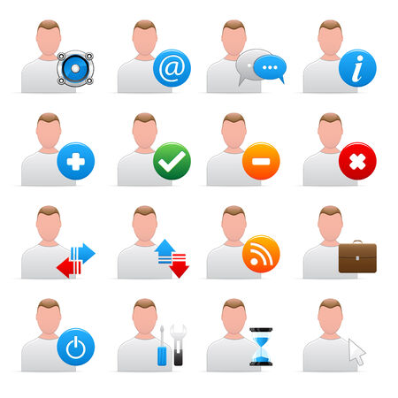 Set of user icons Stock Vector - 6607708