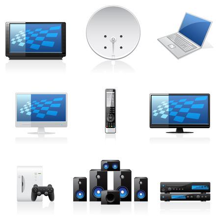 black appliances: Icone delle famiglie vettoriali