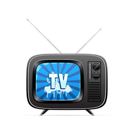 Vector retro television  Vector