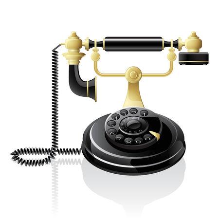 Vector black telephone Stock Vector - 6607699