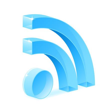 RSS symbol  Stock Vector - 6607681