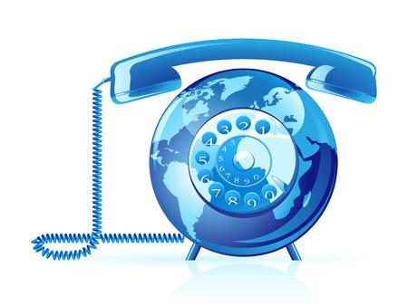 cable telefono: Tel�fono del mundo