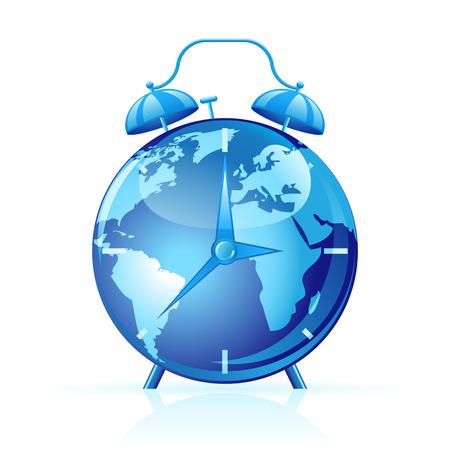 World clock. Time concept Stock Vector - 6643540