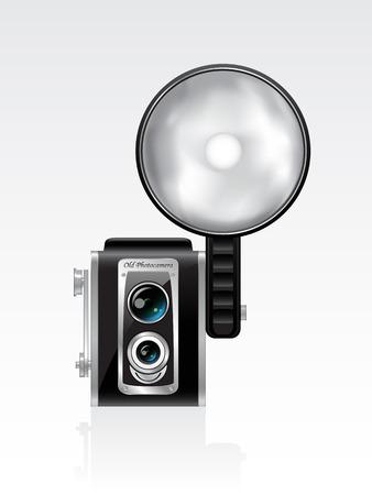 Vector retro photocamera Stock Vector - 6643546