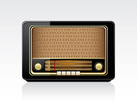 Retro radio Stock Vector - 6643543
