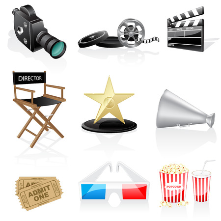 Cinema icons Stock Vector - 6643557