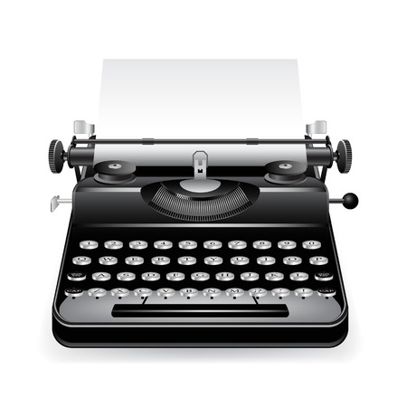 type writer: old typewriter