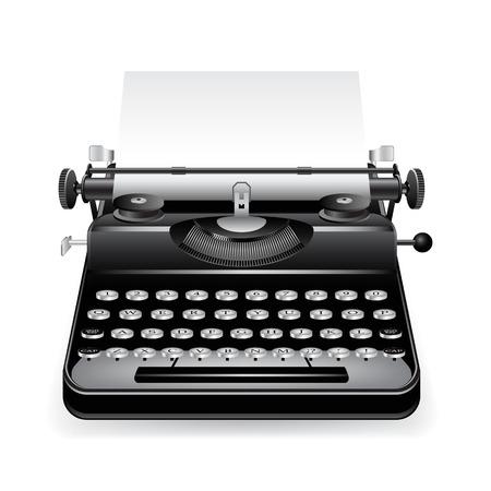 oude schrijf machine  Stock Illustratie