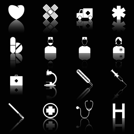 Medical icons Stock Vector - 6701329