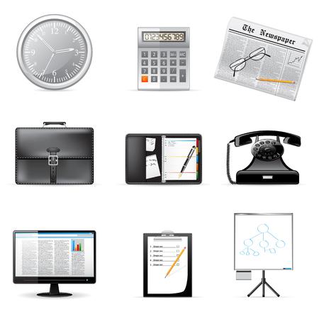 Bedrijf en kantoor pictogrammen