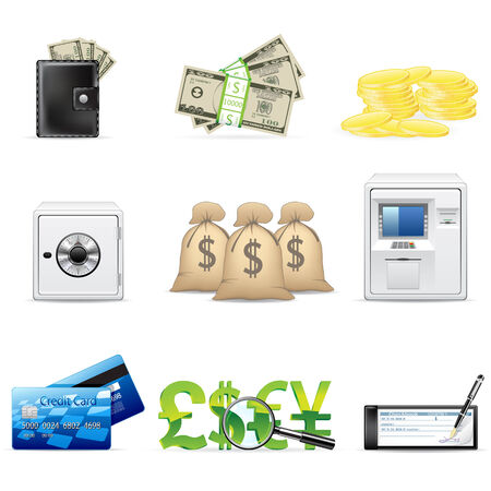 treasury: banking and finance icon set  Illustration