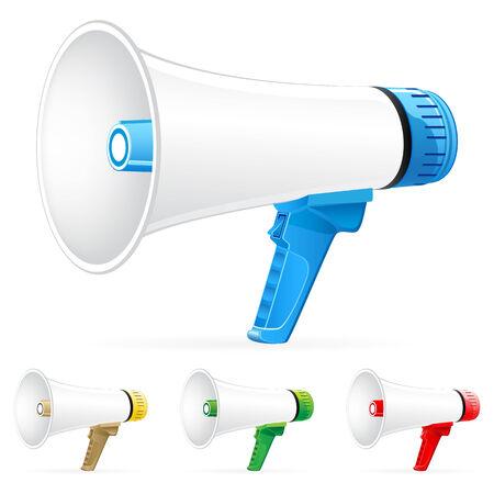 Set of  megaphone icons  Vector