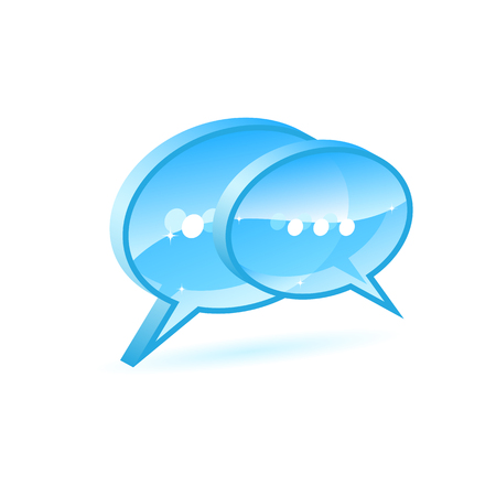 Illustration of a blue chat box icon  Vector