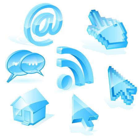 Web symbols Иллюстрация