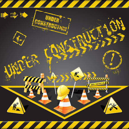 set of  under construction elements  Vector