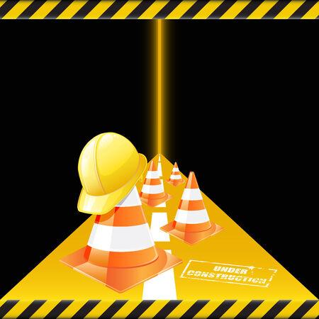 warning graphic: Under construction Illustration