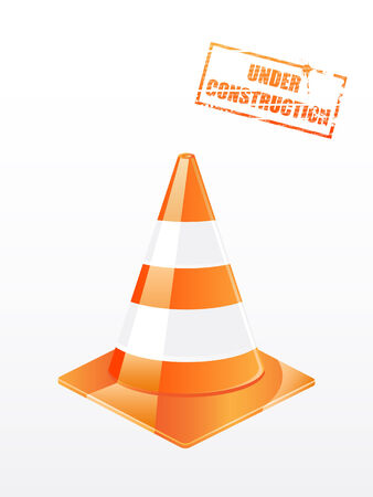 traffic cone  Stock Vector - 6894121