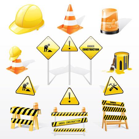 set onder constructie-elementen