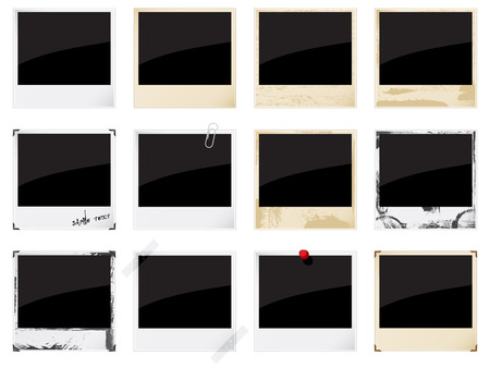 Set of  empty instant photo frames   Vector