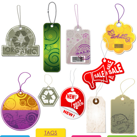 Set of colorful tags for shop products  Vector