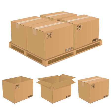 Set van kartonnen dozen