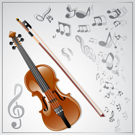 Background with a violin Vector