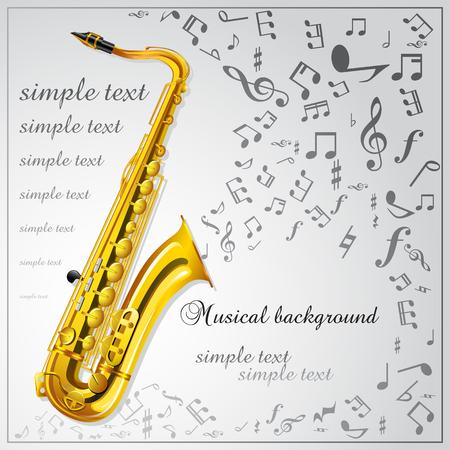 Saxophone. Musical background Illustration