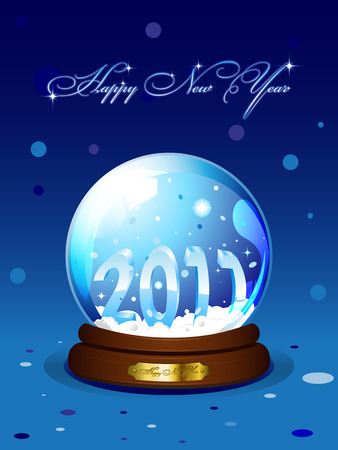 New Year 2011 card with realistic snowglobe Vector
