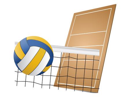 volleyball net: Volleyball design elements