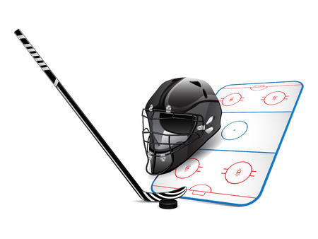 Hockey design elements Stock Vector - 8712107