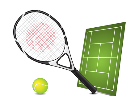raqueta tenis: Elementos de dise�o de tenis Vectores