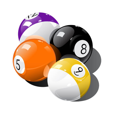 pool balls: Vector illustration of pool balls  Illustration