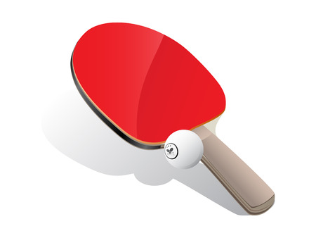 shadow match: Ping-pong paddle and ball