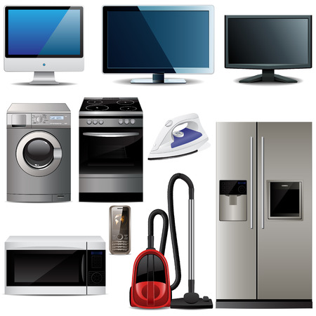 Household electronic elements  Vector