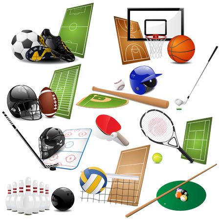 racket sport: Iconos de deporte  Vectores