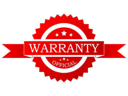services icon: Vector red  warranty label