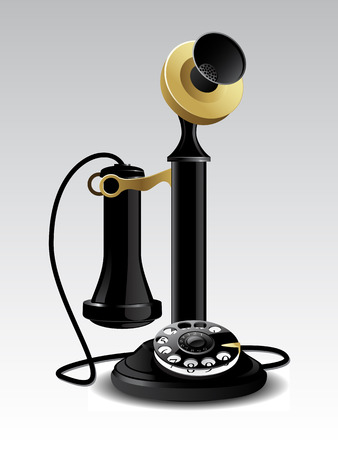 retro phone: Vector vintage telephone