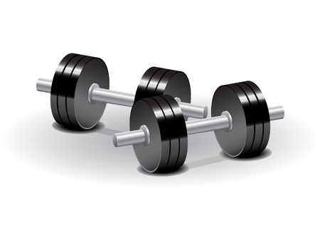 hand with dumbbell: dumbbells