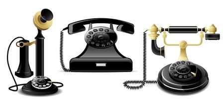 Vintage telefoons Stock Illustratie